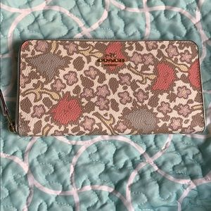 Brand New Authentic Coach Floral Leather Wallet